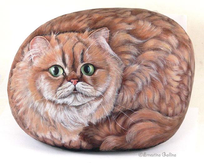 Artista italiana transforma pedras em obras de arte 09