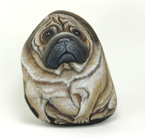 Artista italiana transforma pedras em obras de arte 12