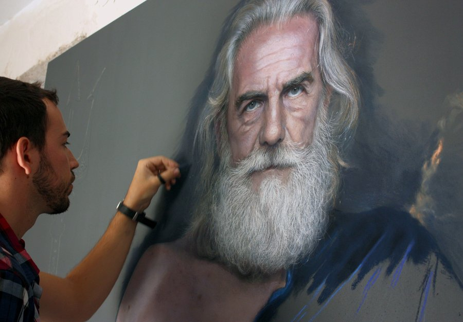 Os inacreditáveis desenhos foto-realistas a pastel de Ruben Belloso Adorna 02