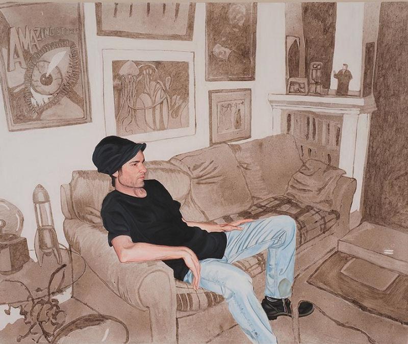 Artista inovadora cria belas pinturas com poeira 01