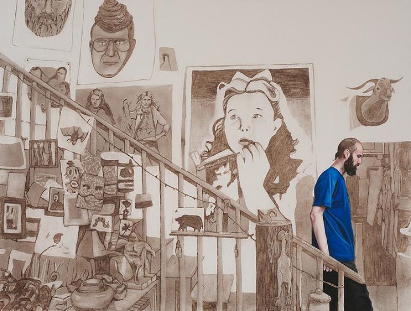Artista inovadora cria belas pinturas com poeira 02