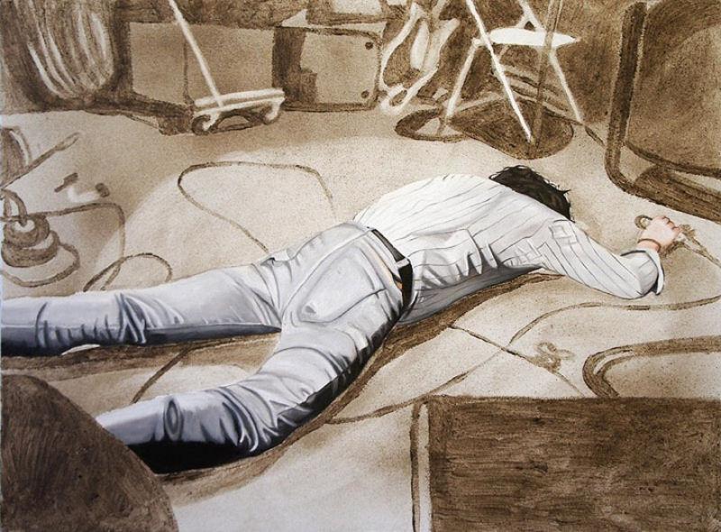 Artista inovadora cria belas pinturas com poeira 03