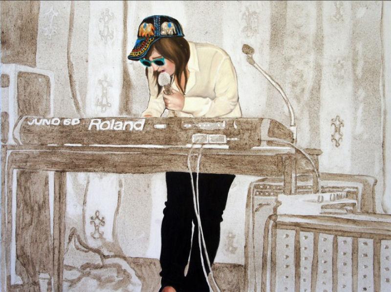 Artista inovadora cria belas pinturas com poeira 04