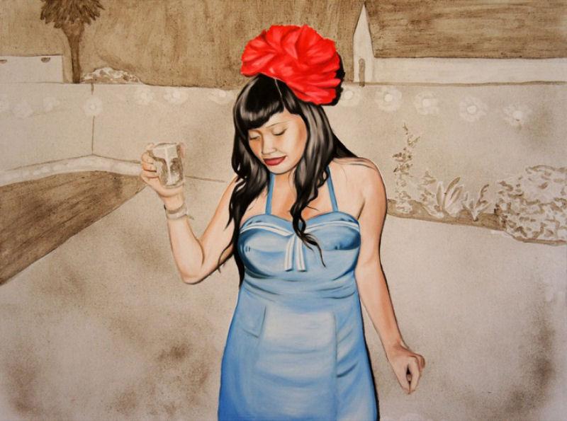 Artista inovadora cria belas pinturas com poeira 05