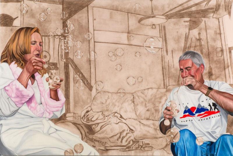 Artista inovadora cria belas pinturas com poeira 06