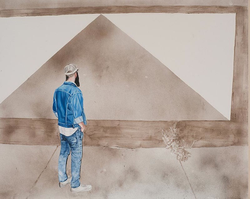 Artista inovadora cria belas pinturas com poeira 09