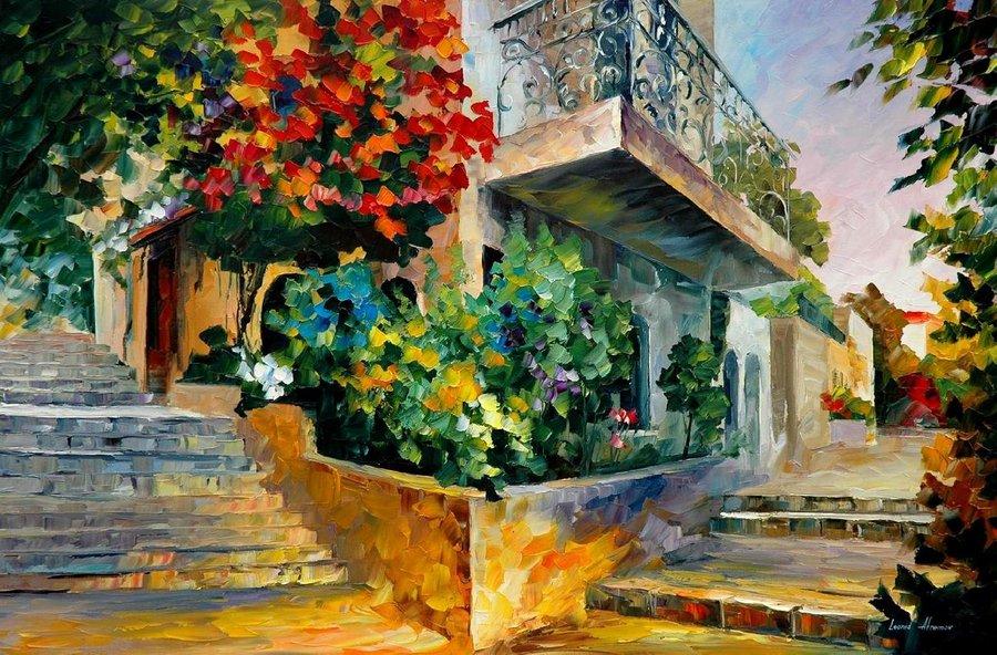 Belas pinturas a óleo usando somente a espátula da paleta 12