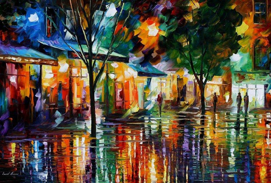 Belas pinturas a óleo usando somente a espátula da paleta 17