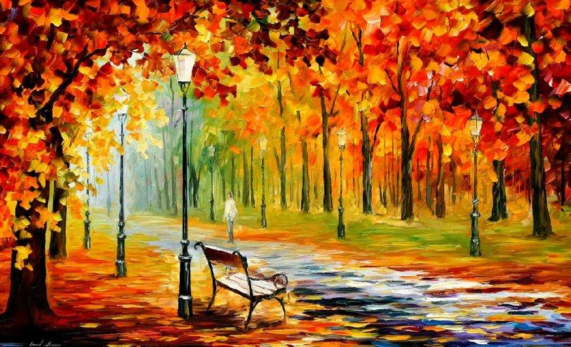 Belas pinturas a óleo usando somente a espátula da paleta 21