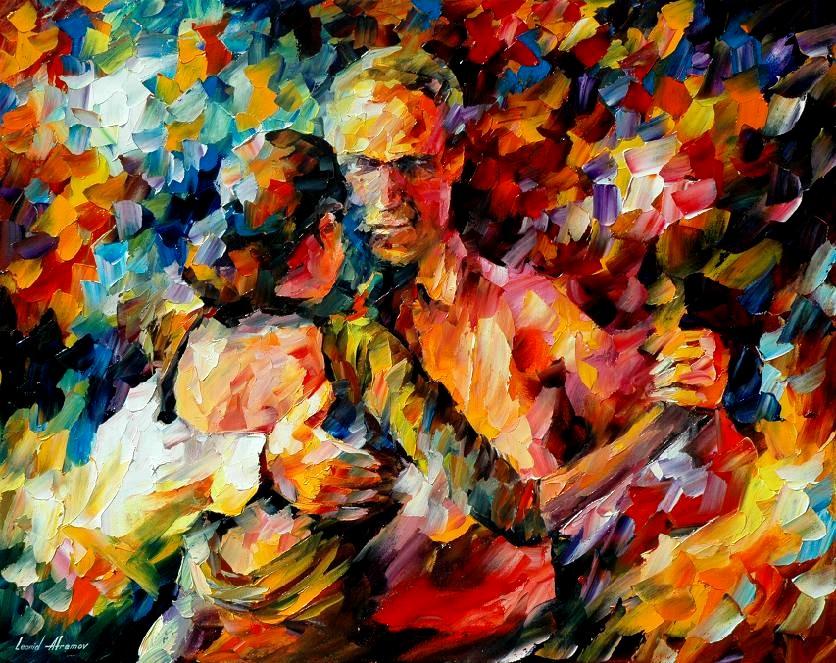 Belas pinturas a óleo usando somente a espátula da paleta 23