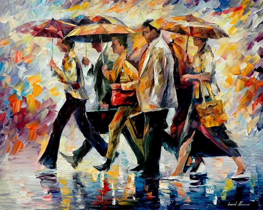Belas pinturas a óleo usando somente a espátula da paleta 25