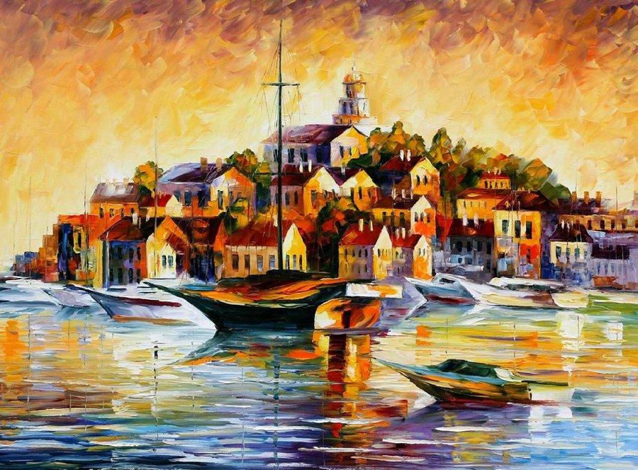 Belas pinturas a óleo usando somente a espátula da paleta 27