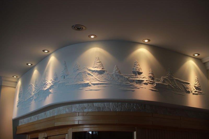 Artista transforma gesso comum em espetaculares murais em alto relevo 03