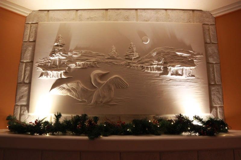 Artista transforma gesso comum em espetaculares murais em alto relevo 05