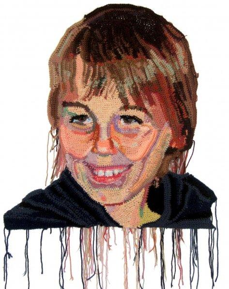 Os retratos feitos com crochê de Jô Hamilton