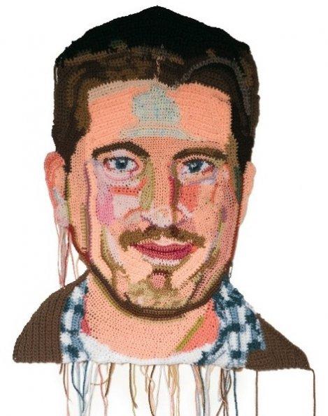 Os retratos feitos com crochê de Jô Hamilton  06