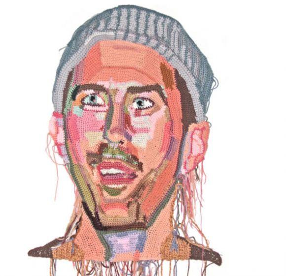 Os retratos feitos com crochê de Jô Hamilton  07