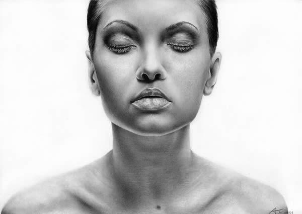 Retratos ultra real�sticos de mulheres