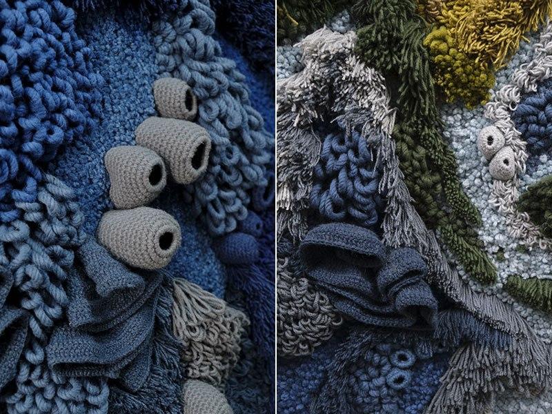 Tapete de 6 metros, feito à mão com lã reciclada, exibindo o mapa-múndi, é fantástico  04