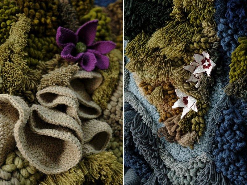Tapete de 6 metros, feito à mão com lã reciclada, exibindo o mapa-múndi, é fantástico  05