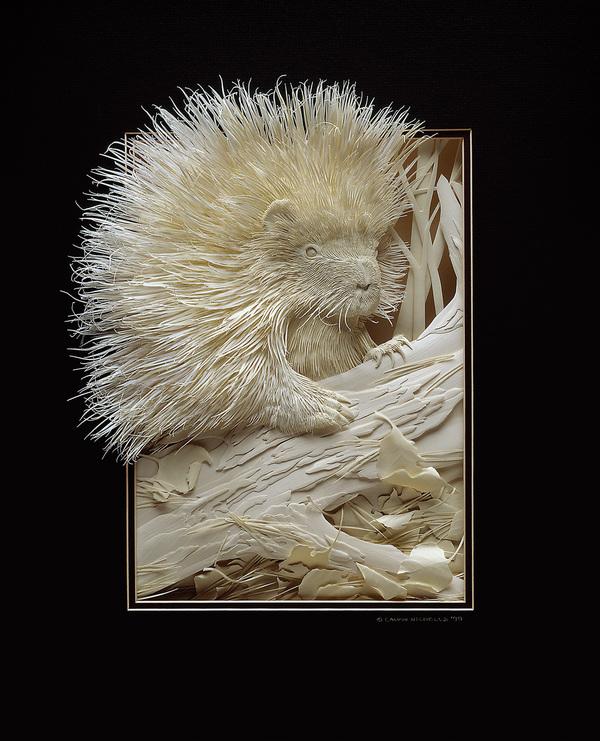 Artista cria um zoológico de papel 01