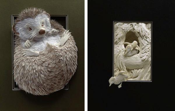 Artista cria um zoológico de papel 06
