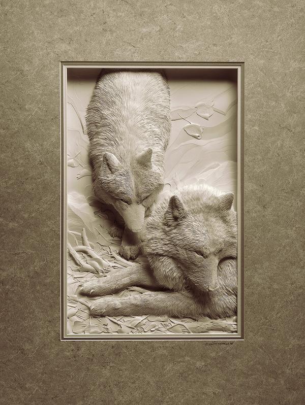 Artista cria um zoológico de papel 07