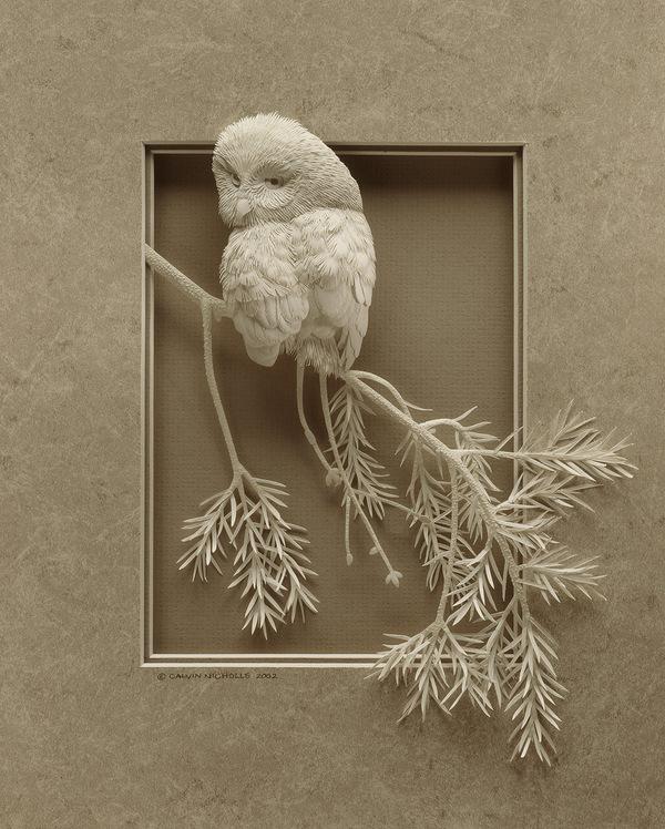 Artista cria um zoológico de papel 08