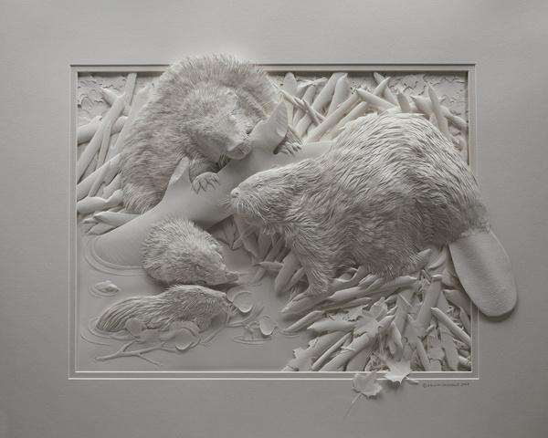 Artista cria um zoológico de papel 09