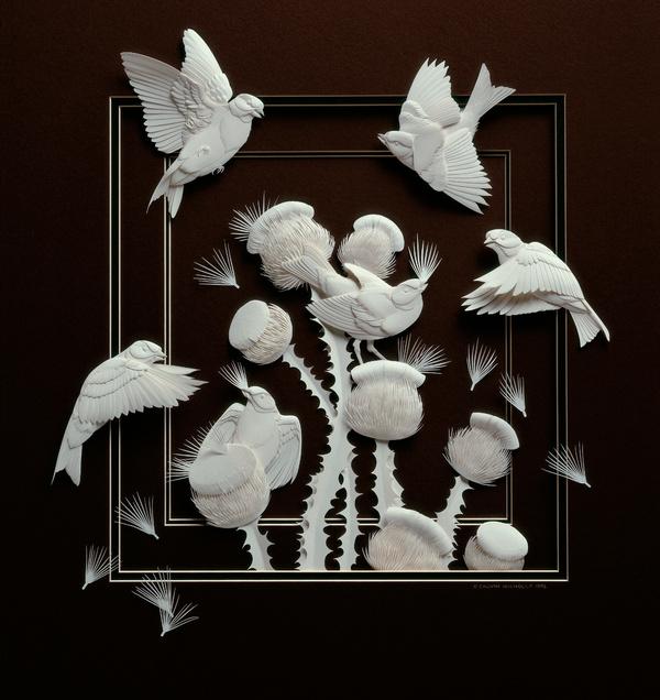Artista cria um zoológico de papel 11