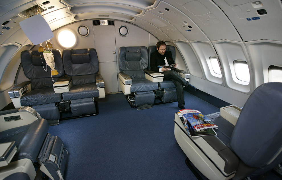Hotel de luxo dentro de um avião 02