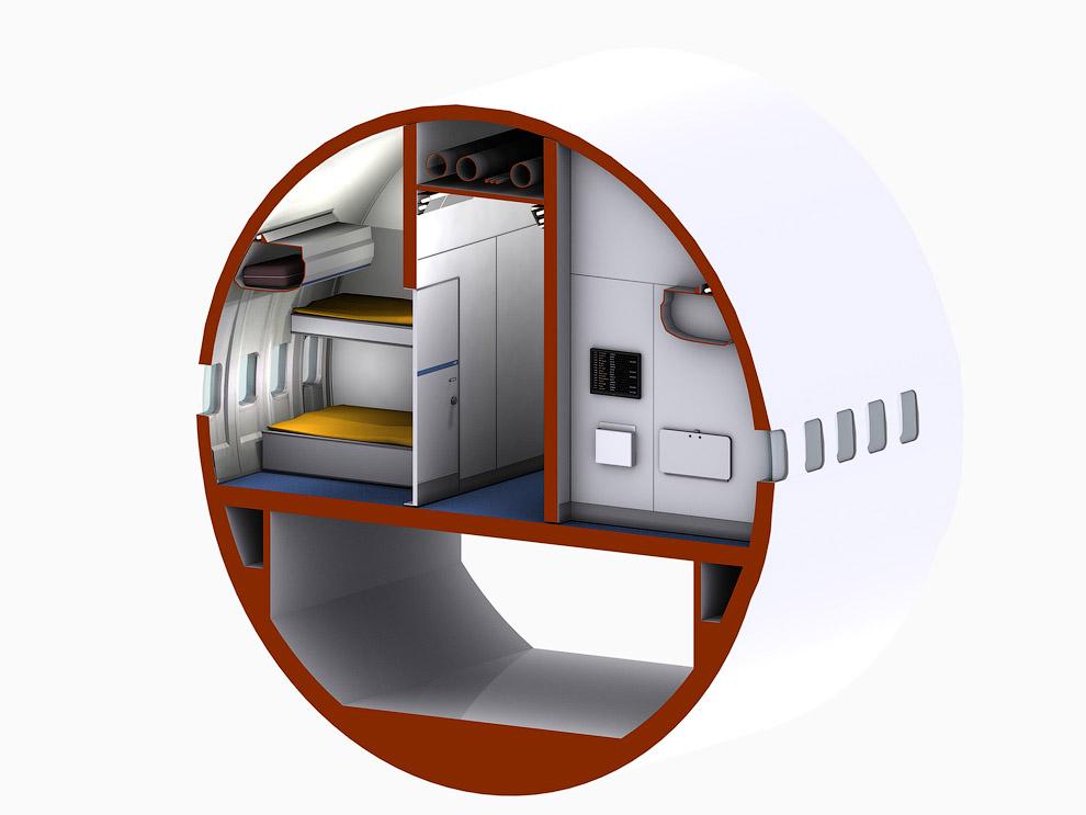 Hotel de luxo dentro de um avião 07