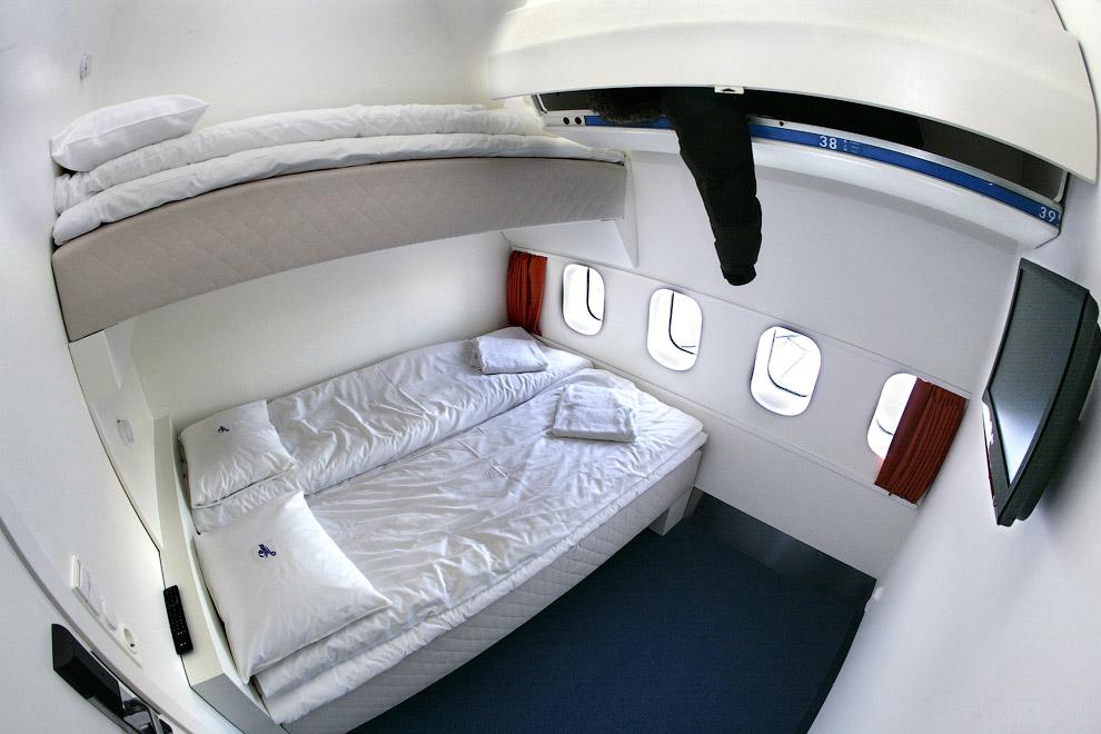 Hotel de luxo dentro de um avião 10