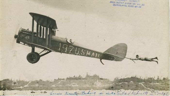 Acrobacias aéreas dos Barnstormers em 1920 06