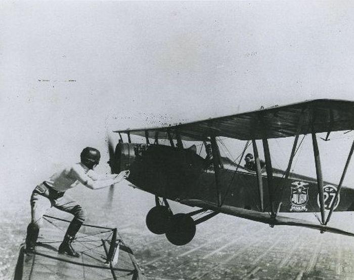 Acrobacias aéreas dos Barnstormers em 1920 08