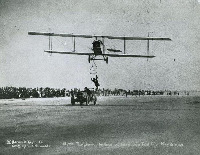 Acrobacias aéreas dos Barnstormers em 1920 20