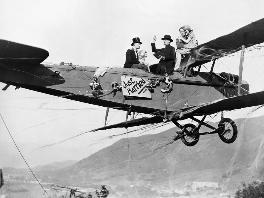Acrobacias aéreas dos Barnstormers em 1920 21