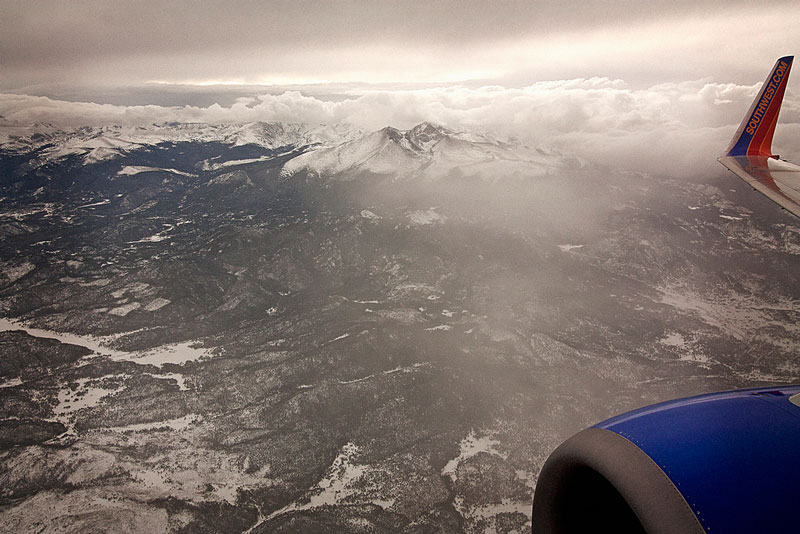 Vendo o mundo atrav�s de uma janela de avi�o