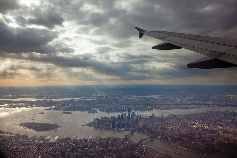 Vendo o mundo através de uma janela de avião