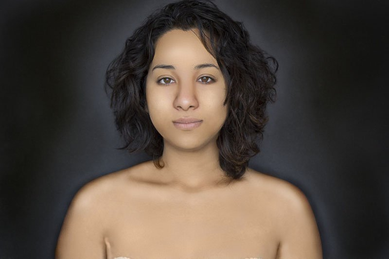 Outra jovem teve seu rosto fotochopado ao redor do mundo para examinar padrões de beleza 05