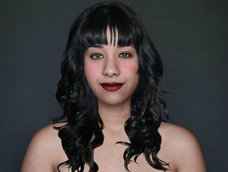 Outra jovem teve seu rosto fotochopado ao redor do mundo para examinar padrões de beleza 20