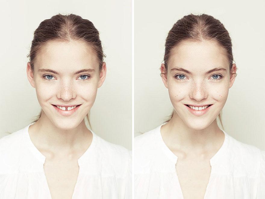 Fotógrafo explora a beleza através da manipulação digital da simetria facial 09