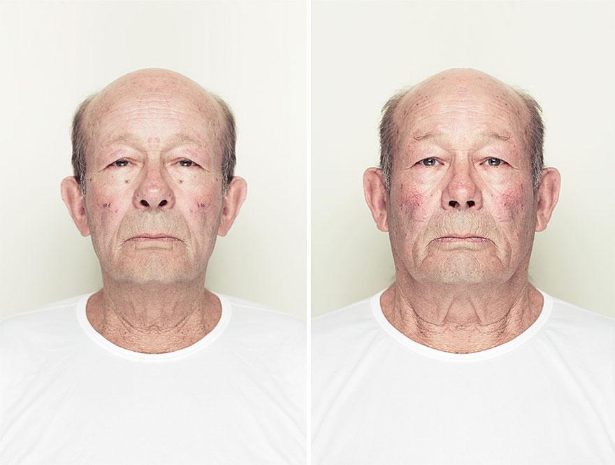 Fotógrafo explora a beleza através da manipulação digital da simetria facial 10