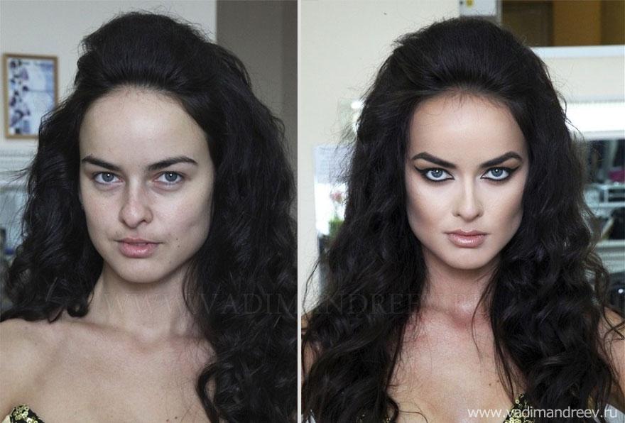Antes e depois de milagres da maquiagem 2 02