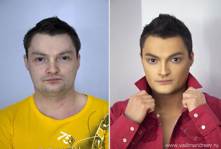 Antes e depois de milagres da maquiagem 2 03