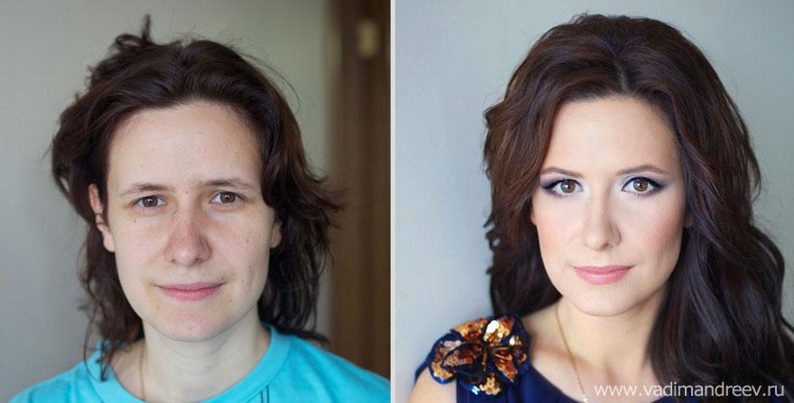 Antes e depois de milagres da maquiagem 2 04