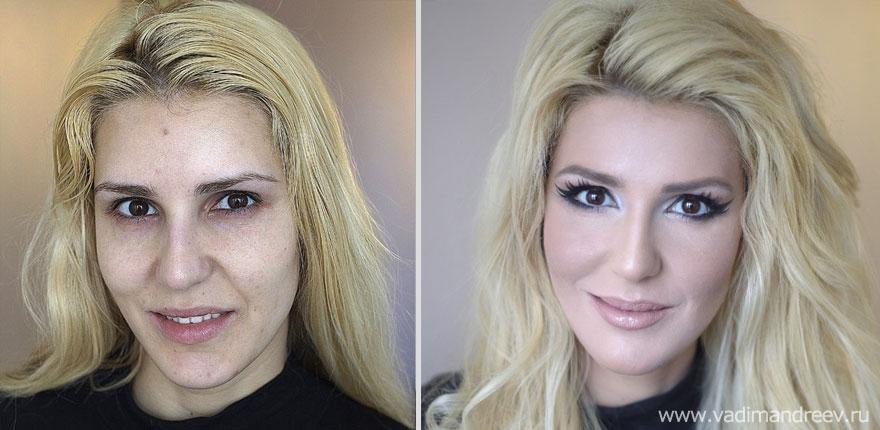 Antes e depois de milagres da maquiagem 2 06
