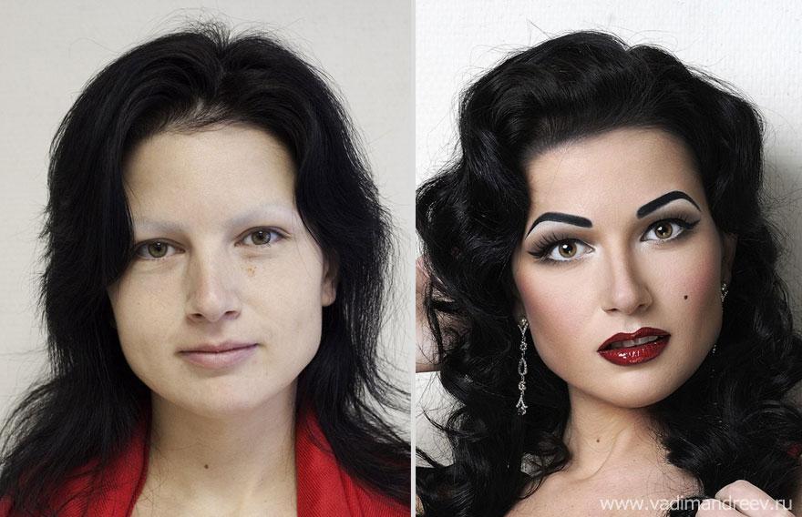 Antes e depois de milagres da maquiagem 2 08