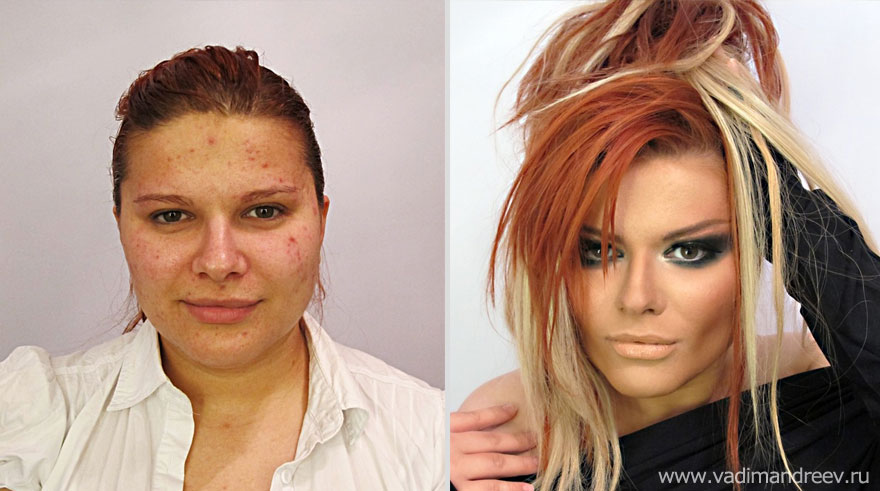 Antes e depois de milagres da maquiagem 2 14