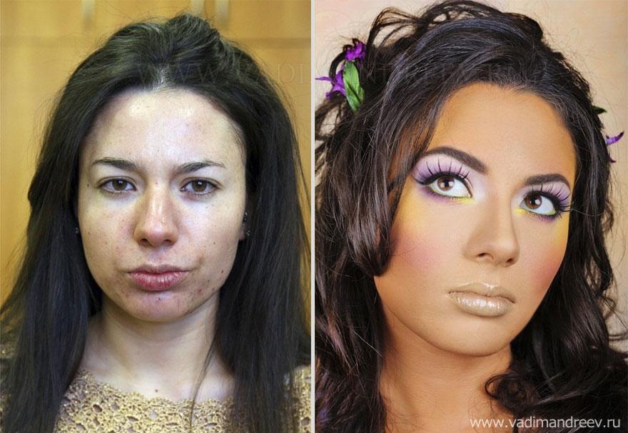 Antes e depois de milagres da maquiagem 2 28
